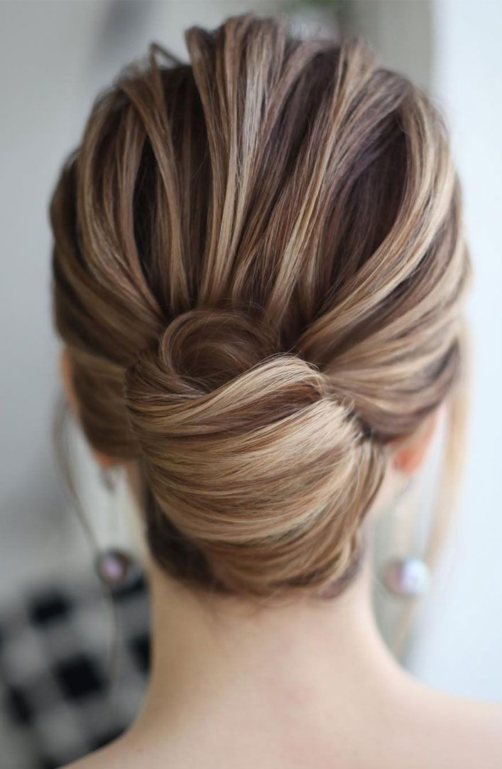 Sophisticated Simple French Twist Elegant Updo Hairstyles Updo Wedding Wedding Hairstyle Bride Updo In 2020 Easy Bun Hairstyles Elegant Wedding Hair Bun Hairstyles