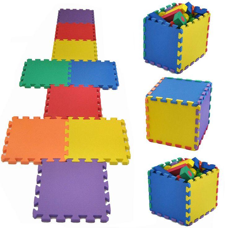 Kids Eva Foam Interlocking Mats Soft Baby Playmat Game Set