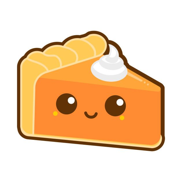 Kawaii Pumpkin Pie Slice Women Cute Face Tshirt Shirt Foodie Cartoon Anime Cartoon Pie Cute Halloween Drawings Pie Drawing