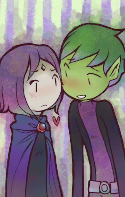 Beast Boy and RaVEN - parejas de los jóvenes titanes fan Art (30900158) - fanpop