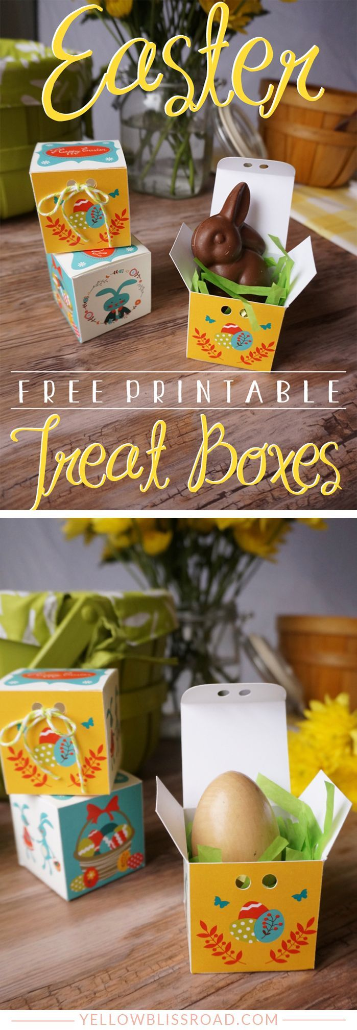 Free printable easter treat boxes free printable easter treat boxes adorable little gift boxes easter printables negle Image collections