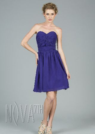 chilffon off shoulder above knee cocktail dress with Sashes/Ribbons