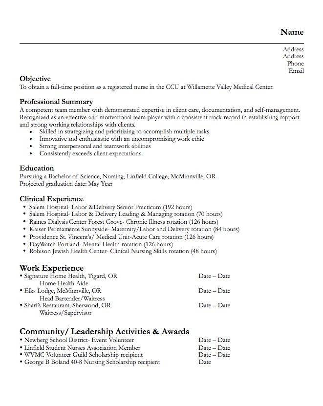 925 best Example Resume CV images on Pinterest Communication - nursing assistant resume examples