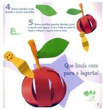 Rups en appel van papier