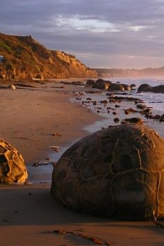 Moeraki Boulders in New Zealand.