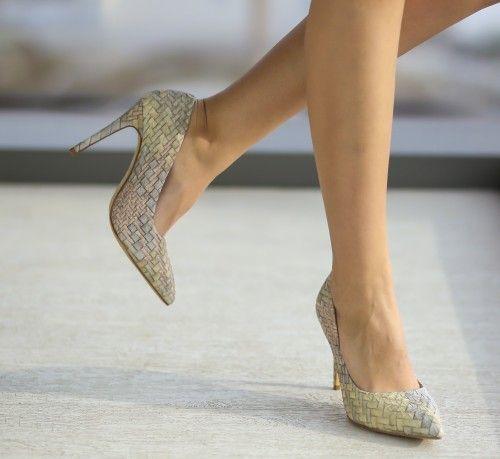 Pantofi Aftero Bej - <br>Culoare:  Bej<br>Dimensiune toc:  10<br>Material:  Piele eco Colectia Pantofi cu toc de la  www.cutoc.net