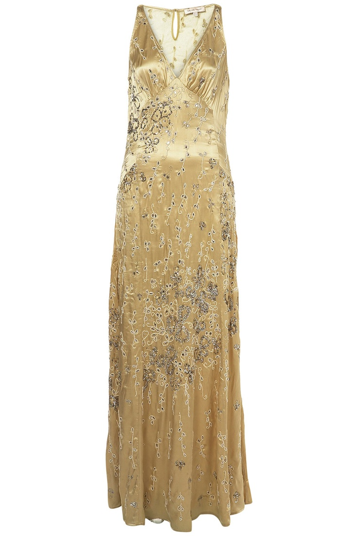 Beaded Godet Maxi Dress - Inspired by The Great Gatsby - @Mlle
