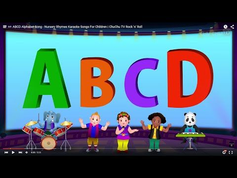 ABCD Alphabet Song - Nursery Rhymes Karaoke Songs For Children | ChuChu TV Rock 'n' Roll - YouTube