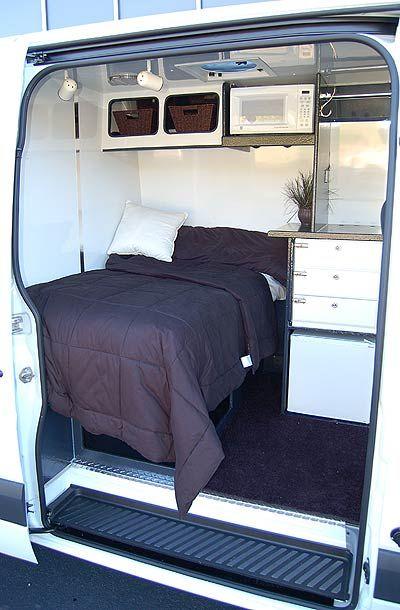 auch ne Möglichkeit! Sprinter Van Sleeper Conversions | Hanvey Sprinter Expediter Vans on Sprinter Van for freight haulers by ...