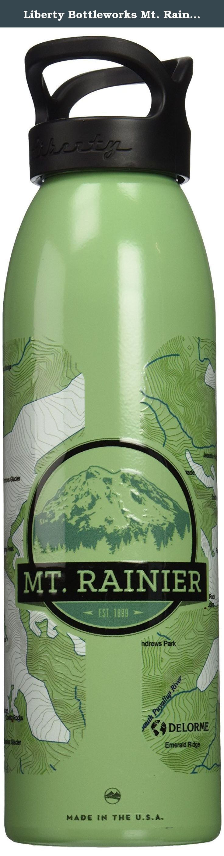 Liberty Bottleworks Mt. Rainier Standard Water Bottle, Edamame, 24 oz/Medium. Liberty bottleworks is the only metal bottle manufacturer on the market that makes everything completely in America. Liberty offers fully customizable cylindrical printing onto a variety of solid color finishes, including: gloss, luster and metallic. There's something here for everyone. We produce our bottles in a renewable manner; the metal is formed in our zero-waste factory with super strong and partially...