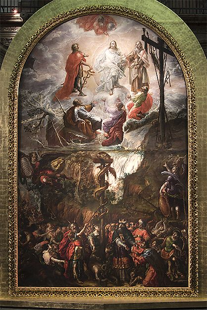 Cristobal de Villalpando | Moses and the Brazen Serpent and the Transfiguration of Jesus | Mexican | The Met