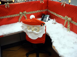 Angie's Pieces of Flair: Christmas Cubicle Decorating Contest