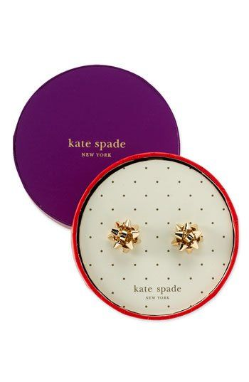 Kate Spade bow earrings-- these are cute for the holidays!