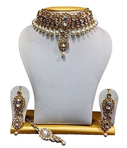 Elegant Dazzling Indian Bollywood Gold Plated White Pearl... https://www.amazon.com/dp/B01IVNTZO4/ref=cm_sw_r_pi_dp_x_YjMnzbGEF7T86