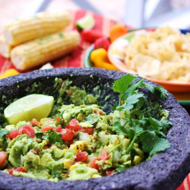 Fire roasted corn guacamole. will need a grill to roast the corn and ...