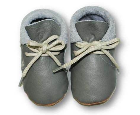 mokasynki SZARE Leather Baby Shoes Moccassins Grey https://fiorino.eu/