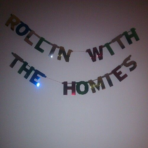 """Rollin with the homies"" Banner."