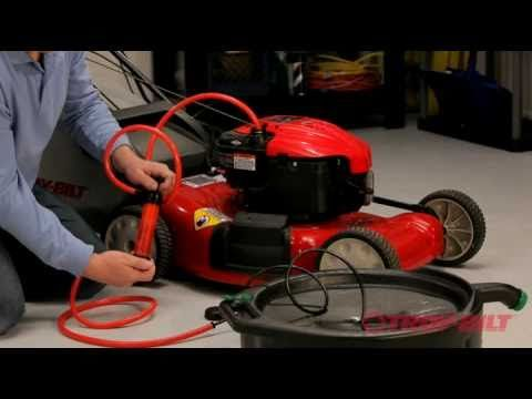 how to replace drive belt on greenfield mower