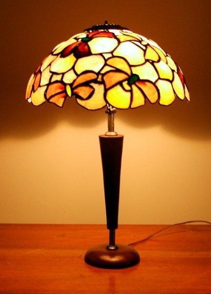 Lámpara velador redonda