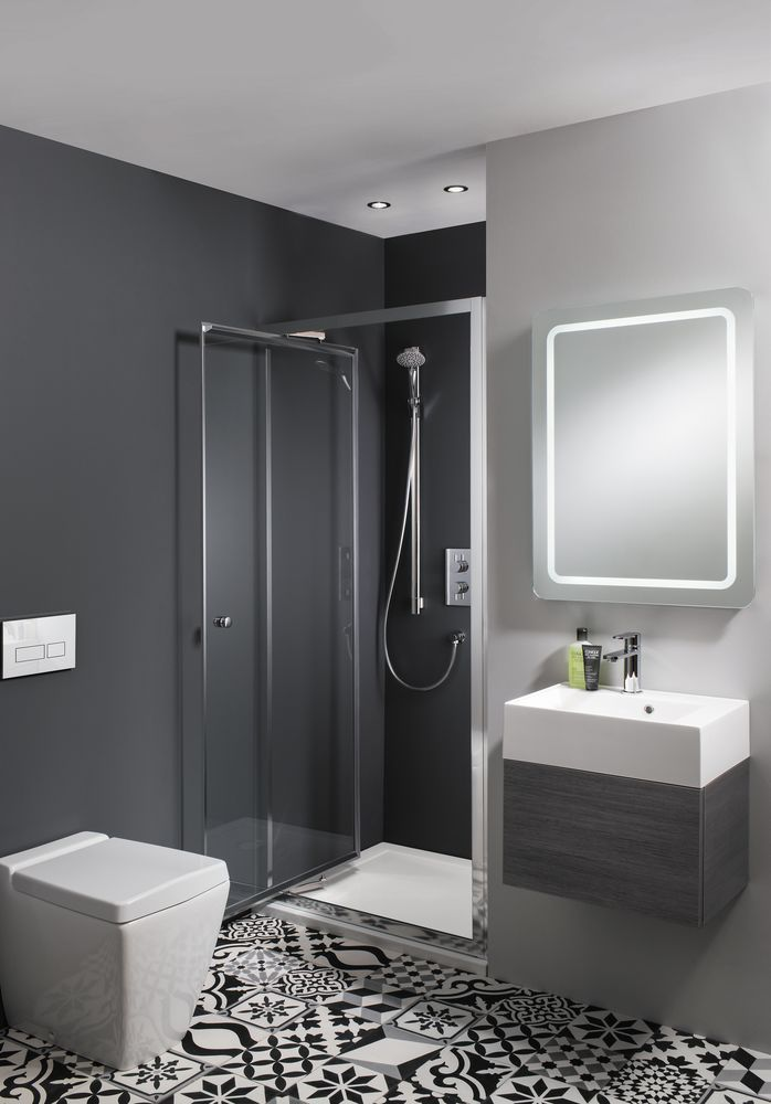 For your bathroom, use reflective surfaces such as mirrored cabinets and high-gloss wall tiles to help bounce light around the room, enhancing a sense of space. Find more inspiration at housebeautiful.co.uk