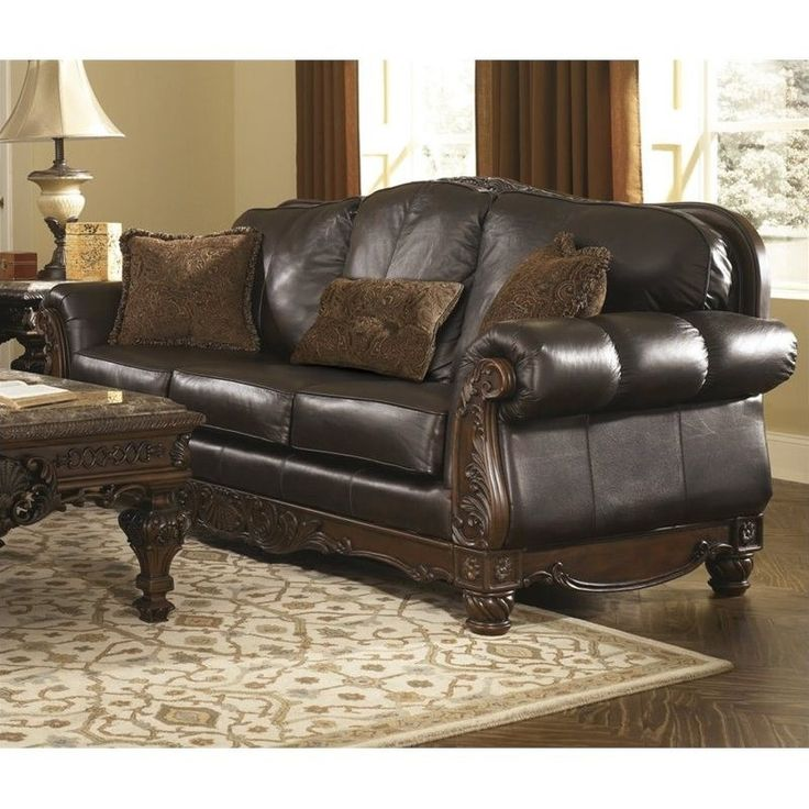 17 best ideas about ashley leather sofa on pinterest for Ashley north shore chaise