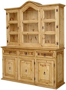 For The Kitchen: Saltillo Large Rustic China Cabinet   This Looks Just Like  Mine But I Donu0027t Have Doors On The Hutch Part.