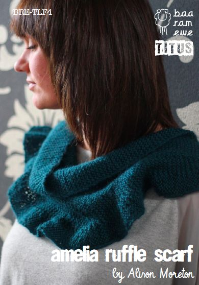 NobleKnits.com - Baa Ram Ewe Titus Amelia Ruffle Scarf Knitting Pattern, $5.95 (http://www.nobleknits.com/baa-ram-ewe-titus-amelia-ruffle-scarf-knitting-pattern/)