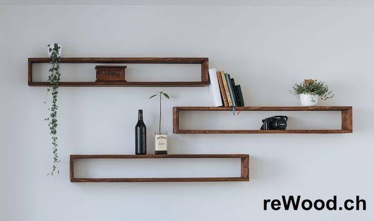 Wandregal von reWood //  längliche Holzkisten zum Aufhängen oder Stapeln // Palettenmöbel aus der Schweiz, Bern, Biel // marcorothphotography.ch