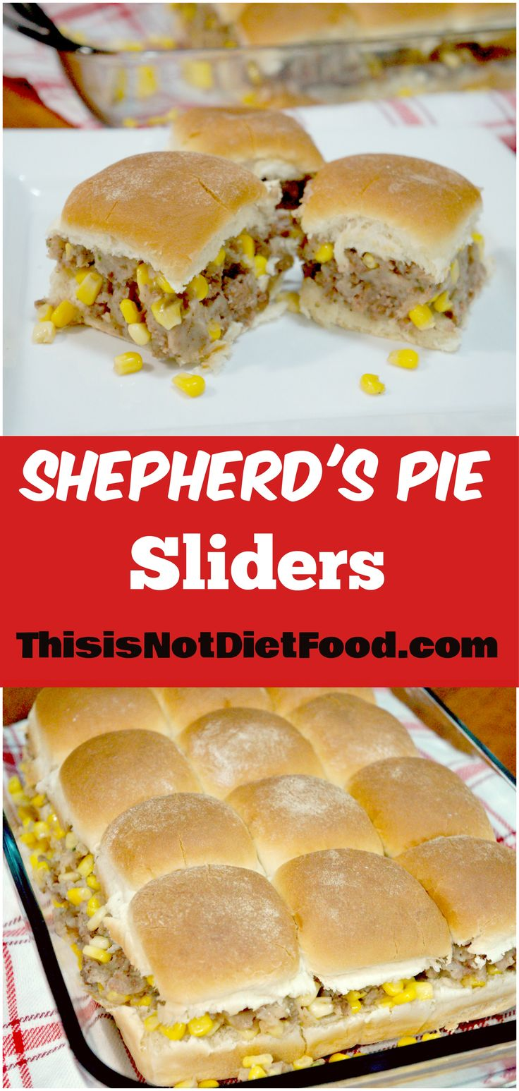 Shepherd's Pie Sliders. Take a classic dish and turn it into a sandwich for a great party snack! Easy dinner recipe.