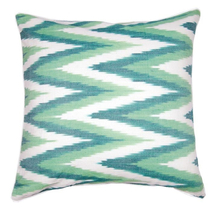 Multicolor Cotton Throw Pillow With A Chevron Motif. Product:  PillowConstruction Material: CottonColor: MultiFeatures: Charming  DesignWill Enhance Any Dcor ...