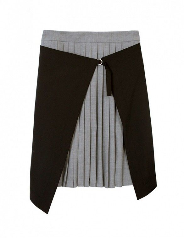 Avant-garde skirts were made for us. // Tibi Tropical Wool Pleated Wrap Skirt