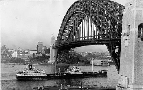 The magnificent Sydney Harbour Bridge constructed by Dorman Long and nearly 80 per cent of the steel came from Teesside. This shows the bridge completed but what follows is a pictorial record of the long process of building this Australian icon.