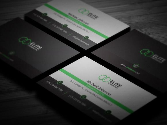 Simple and Clean Business Card 2 by Design'sTRIBE on @creativemarket
