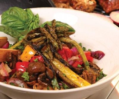 Saltscapes Food & Drink - Grilled Anti Pasta Salad by Alain Bossé - www.saltscapes.com