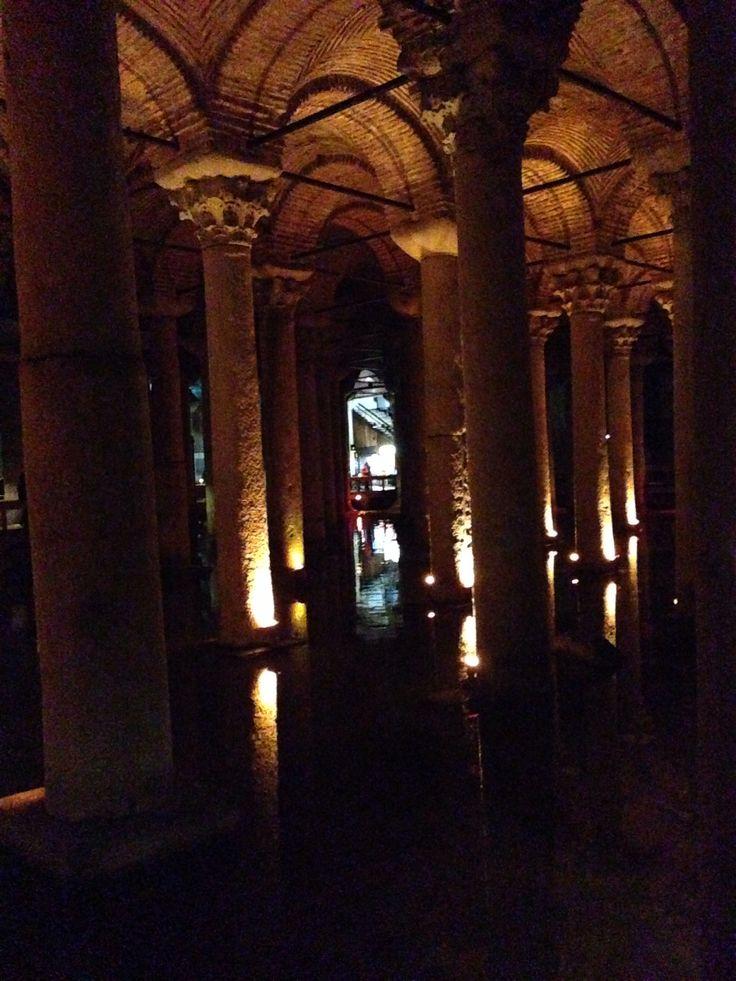 Underground cisterns in Istanbul, Turkey.