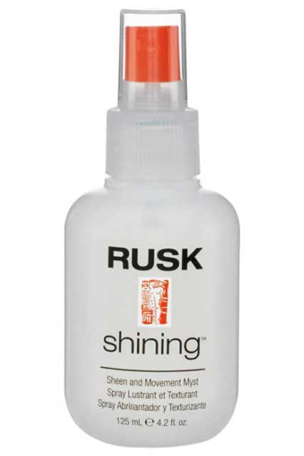"""Rusk Hair Mist  """"This shine spray helps my hair feel alive. It doesn't hurt that my locks smell like I just came out of the salon every time I use it.""""  Rusk Shining Sheen Movement Myst"""