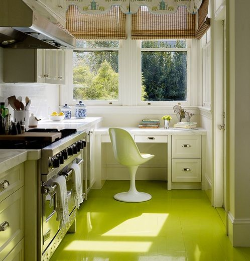 Green floor paint ideas for small kitchen | Flooring Ideas | Floor Design Trends