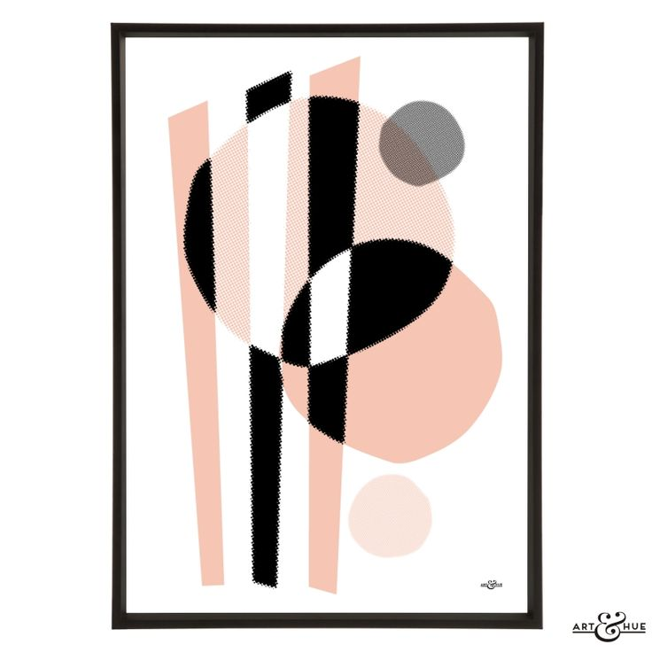 Unframed Midcentury Memphis treble abstract art print on 310gsm fine art archival matte paper, 100% cotton, using pigment inks which last a lifetime.