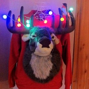 Now that's what you call a Christmas jumper!!!