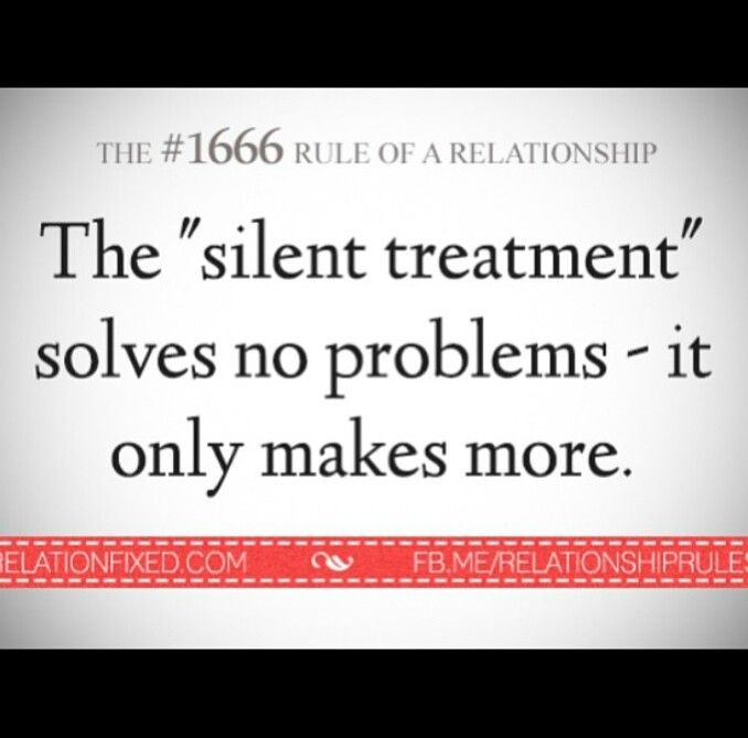 silent treatment in a relationship quotes