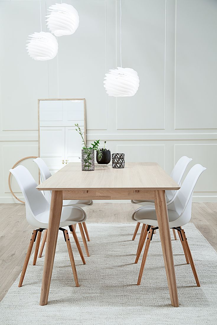 Get the look with our scandinavian dining table in solid ash wood scandinavian style - Scandinavian style dining table ...