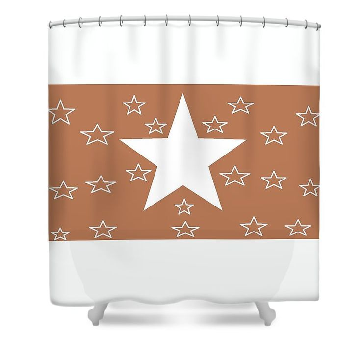 Shower Curtains of 'Texas Stars Forever' by Sumi e Master Linda Velasquez.