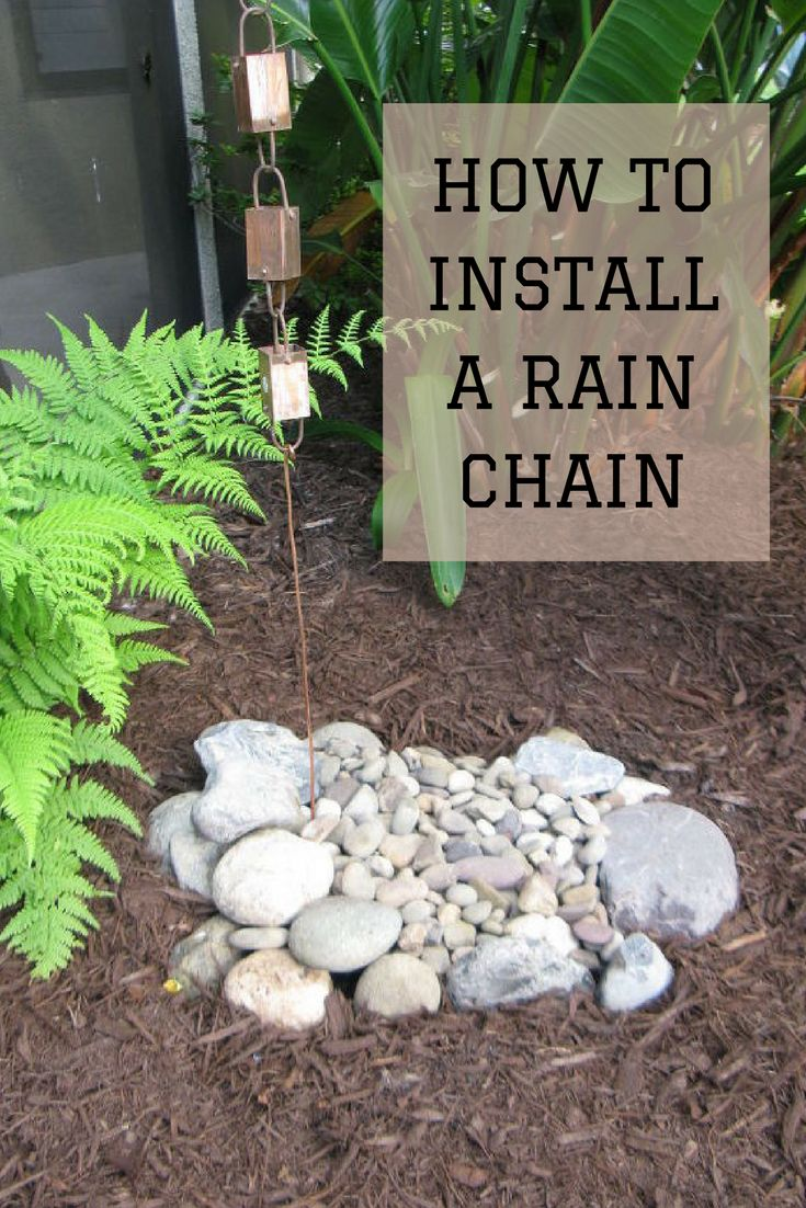 How To Install A Rain Chain - Their Florida home had no gutters, so look what this clever couple did instead!