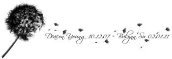 My soon to be tattoo.  I am getting in on my foot with the Dandalion on my heel and my childrens names running down the side.