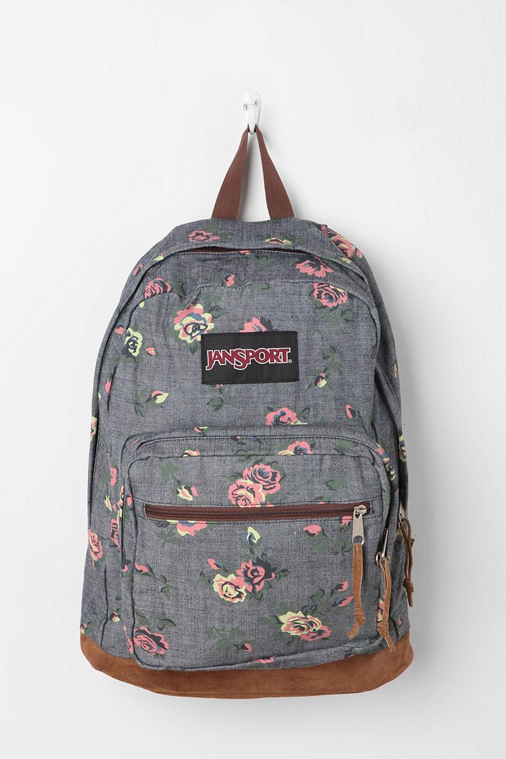 jansport floral chambray backpack.