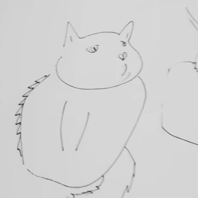 I got lots of inspiration from the Skillshare class from Leah Goren today. A big thank you! #drawing#illustration#fastsketch#sketches#cat#cats#skillshare@leahreenagoren  artwork by Charles Bridge 7x