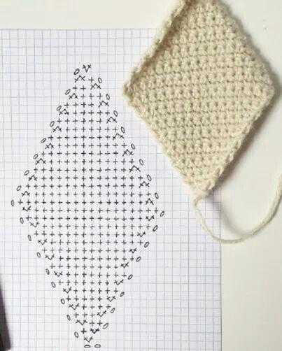 Diamond crochet pattern