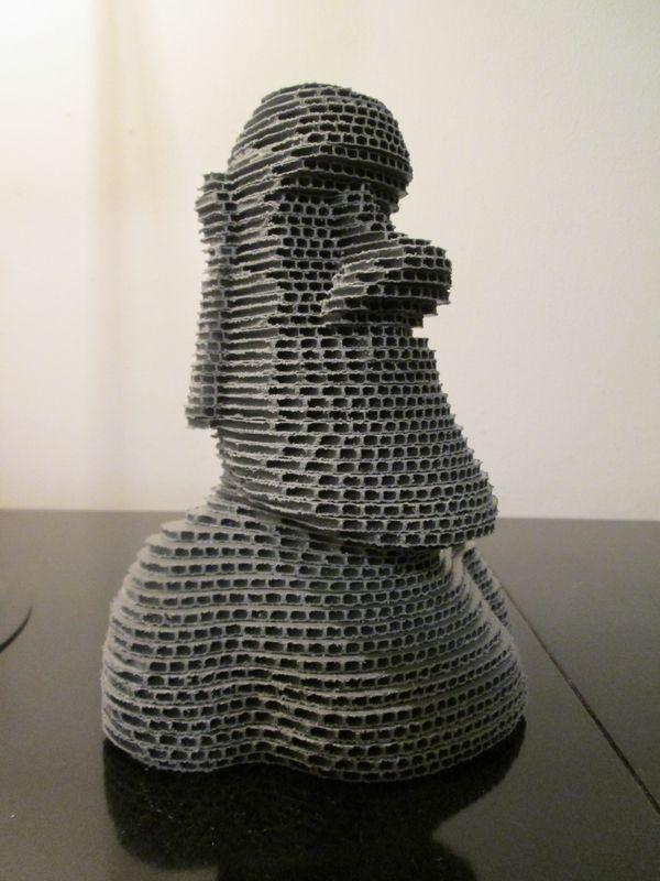 Moai ---- Fai da te - hobby legno - 3d model su Facebook.com