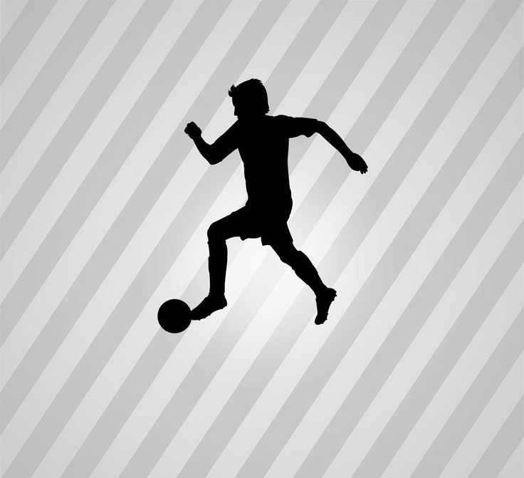 Soccer Player Silhouette Soccer Man - Svg Dxf Eps Silhouette Rld RDWorks Pdf Png AI Files Digital Cut Vector File Svg File Cricut Laser Cut
