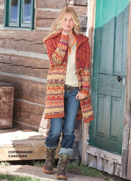 sweater wear in the log cabin